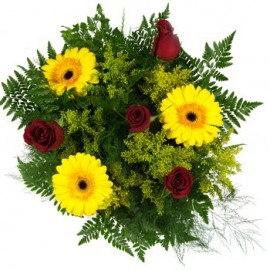 Bright Sunshine and Burning Passion Bouquet