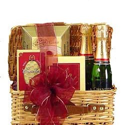 Holiday Champagne and Chocolates Tray