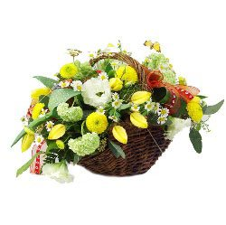 Sunshine of My Life Flower Basket