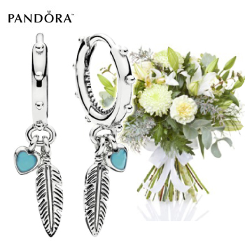 Pandora Feather Earrings Gift Set