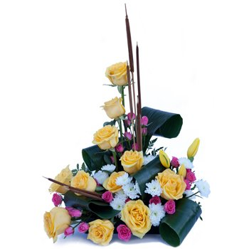 Vibrant Sentiments Centerpiece