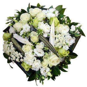 White Tribute Flower Arrangement