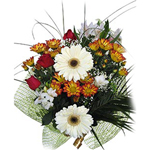 This extravagant bouquet is suitable for all occasions. It can be viewed as both a corporate gift, and an untethered show of affection towards your loved one. A wide variety of flowers are skillfully wrapped to create a composition that is bold in its design and brilliance, delivered anywhere in Russia and CIS.