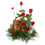 Flower Basket to Russia: this vibrant basket will certainly brighten up any occasion.