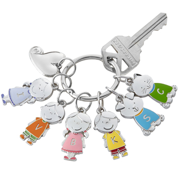 All Together Charm Key Ring