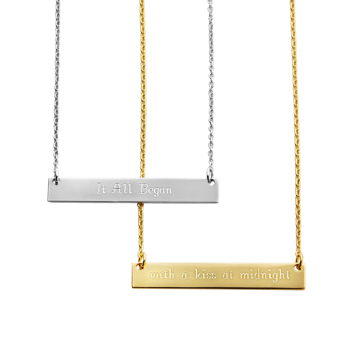Mark the Start Bar Necklace