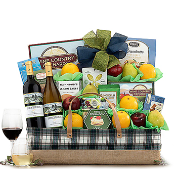 Wine and Dine Luxury Gift Basket