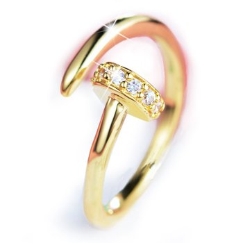 Twist of Fate Adjustable Ring in Yellow Gold