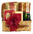 Corporate Gifts to Russia - Holiday Champagne and Chocolates Tray